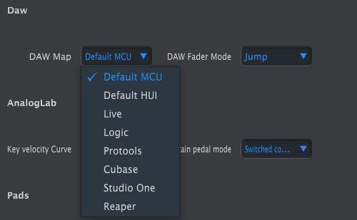 keylab mkii mcc select daw control surface mcu