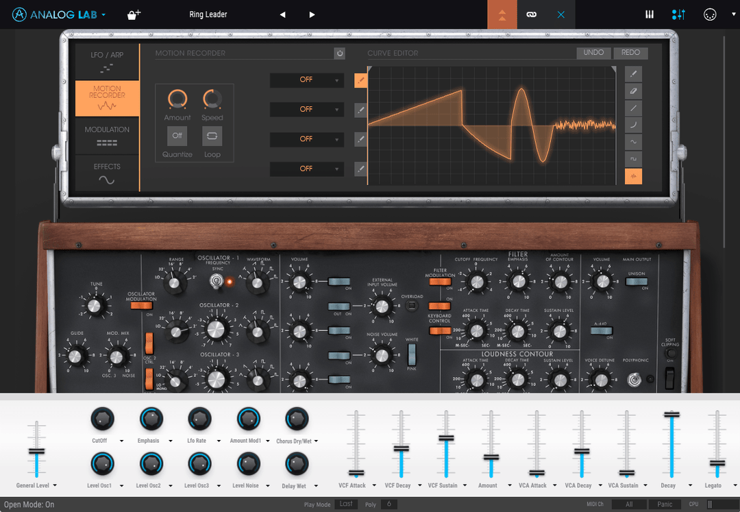 al3 edit preset instrument view